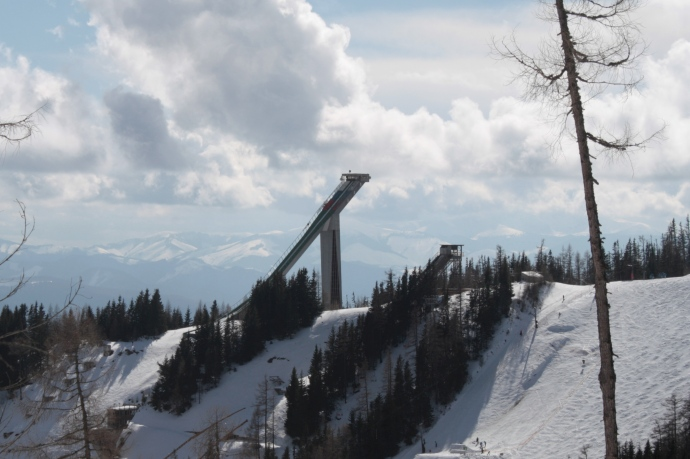 The biggest ski jump I've ever seen.