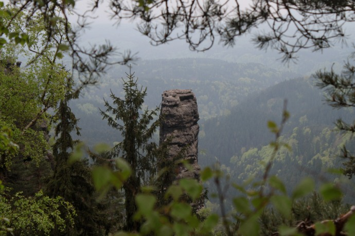A rock tower near the rock bridge lookout.